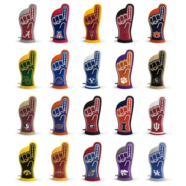 NCAA Team Oven Mitt Designs 1