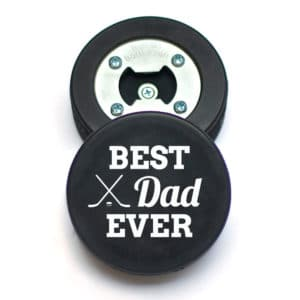Father's Day Hockey Puck Bottle Opener for Dad