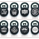 Select from one of these 8 dad-themed puck designs