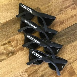Groom crew sunglasses for the groom, best man, groomsmen and ushers