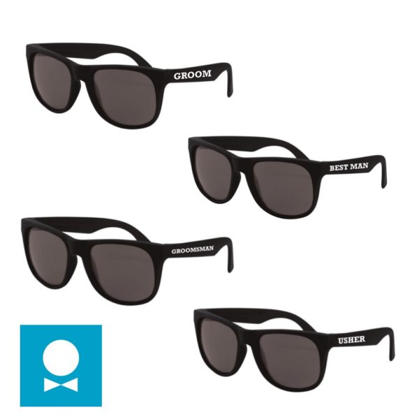 Wayfarer style sunglasses for your groomsmen