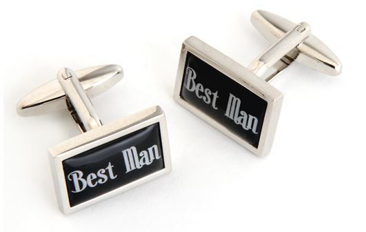 best man cufflinks for groomsmen