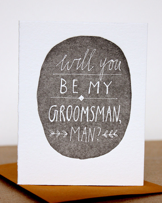 will you be my groomsman personal card