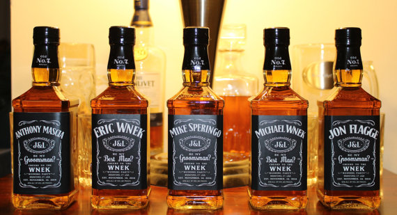 jack daniels wedding whiskey labels