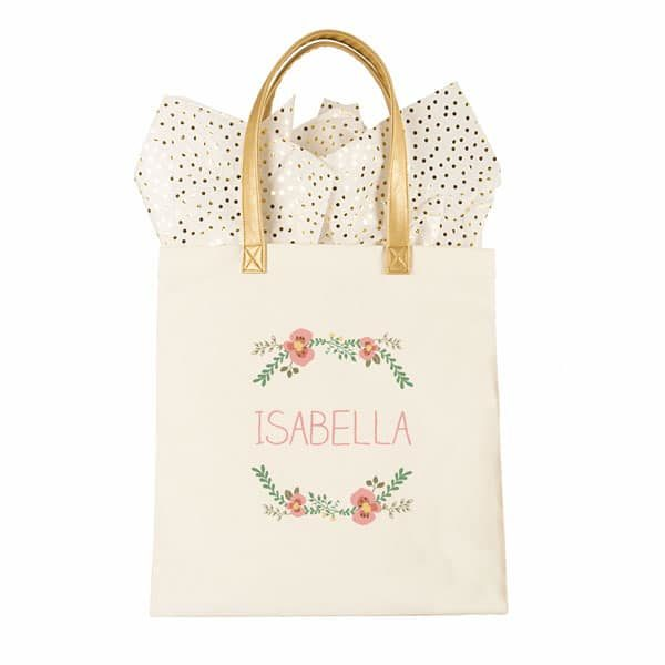 Build a bridesmaid DIY bag starting with this cute Floral Tote.