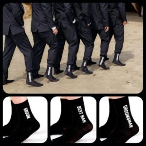 Groomsmen Socks for the Wedding Day Groom Crew
