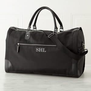 Convertible Black Jetsetter Duffle Personalized For Groomsmen
