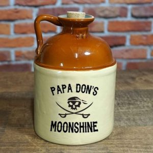 Glass jug that holds 750 ml of your groomsman's homemade moonshine