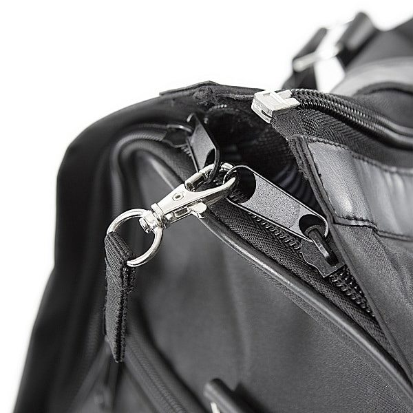 Converting from the duffle to hanging garment bag is as simple as 1-2-3