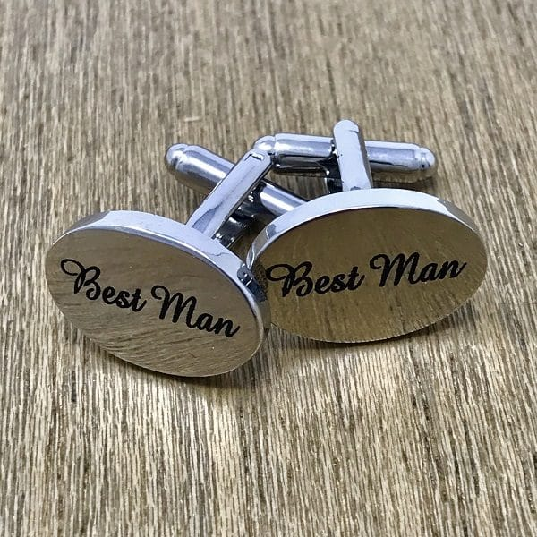 Engraved Best Man Cufflinks