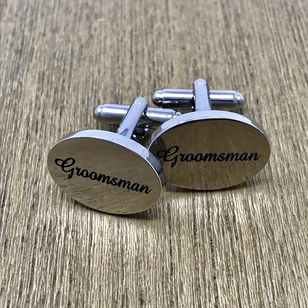 Engraved Groomsmen Cufflinks