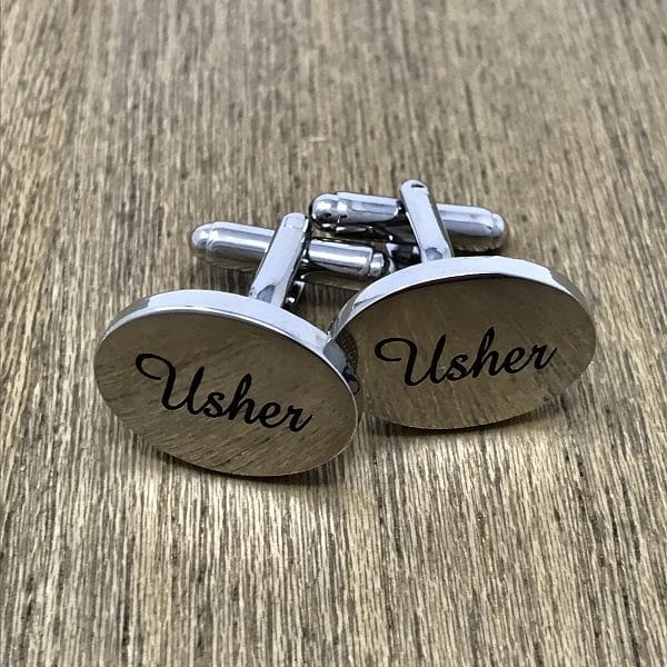 Engraved Usher Cufflinks