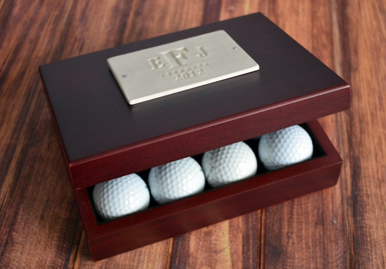 personalized golf ball box from etsy