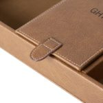 The magnetic closure seals up the closed compartment of the valet box.