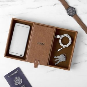Personalized Desktop Charging Station & Organizer (For Groomsmen)