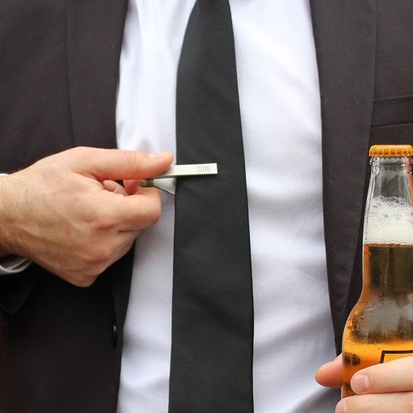 PRYCLIP Bottle Opener Tie Clip for Groomsmen