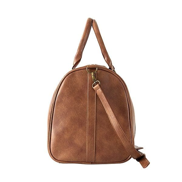 Side view of the 5103 Leather Duffle.