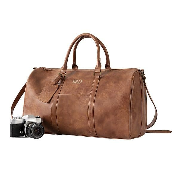 Personalized Vegan Leather Transport Duffle Bag