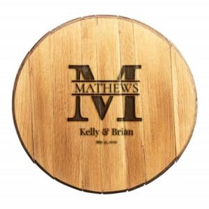 Personalized Whiskey Barrel Wedding Guest Book (Big Letter Design)