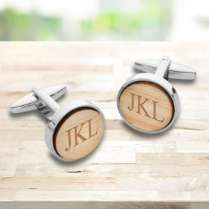 Personalized Bamboo Wood Cufflinks