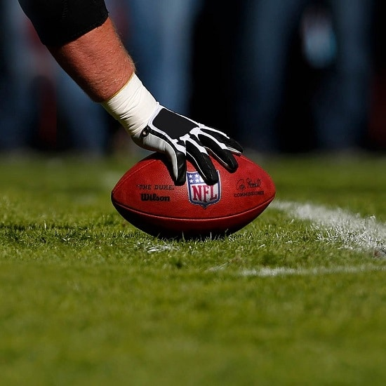 The Duke Football being used in an NFL Game.