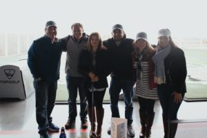 The Man Registry team competing at the 2018 Children's Mercy Hospital Topgolf Tournament