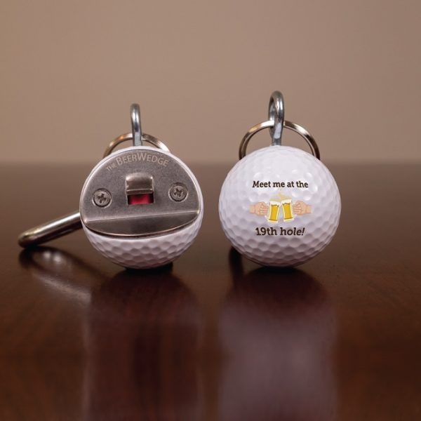 We cut a golf ball in half and added a bottle opener. Cool, right?