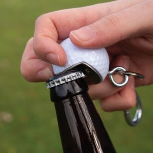 The BeerWedge Golf Ball Bottle Opener. The best gift for golfers