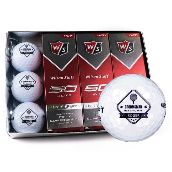 1 Dozen Groomsmen Golf Balls - Diamond Design