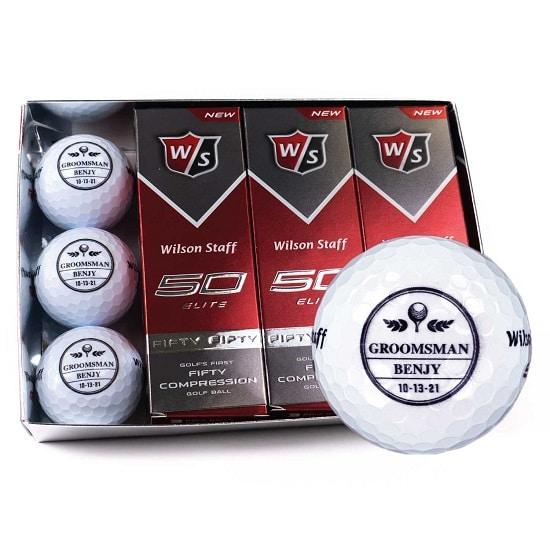 1 Dozen Groomsmen Golf Balls - FleurDeLis Design