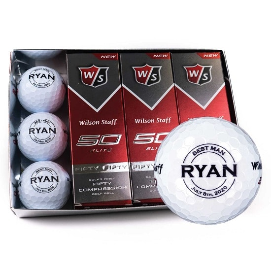 1 Dozen Groomsmen Golf Balls - Round Design
