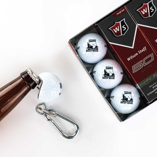12 Golf Ball 1 Beer Wedge Set - Golf Cart Design