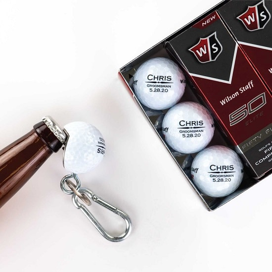 12 Golf Ball 1 Beer Wedge Set - Straight Line Design
