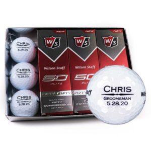 Custom Groomsmen Golf Balls (1 Dozen Balls)