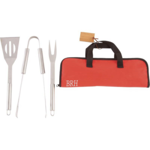 Personalized Chefmaster 3pc BBQ Grill Tools Set