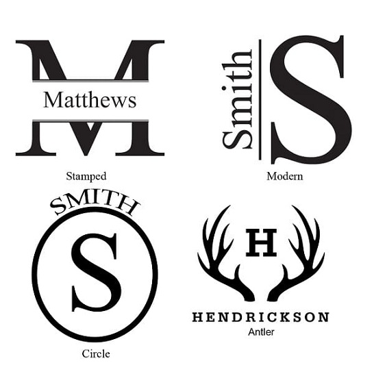 The Man Registry Decanter Monogram Designs
