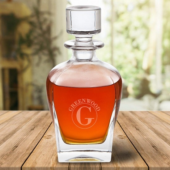 Personalized Vintage 24oz. Glass Whiskey Decanter