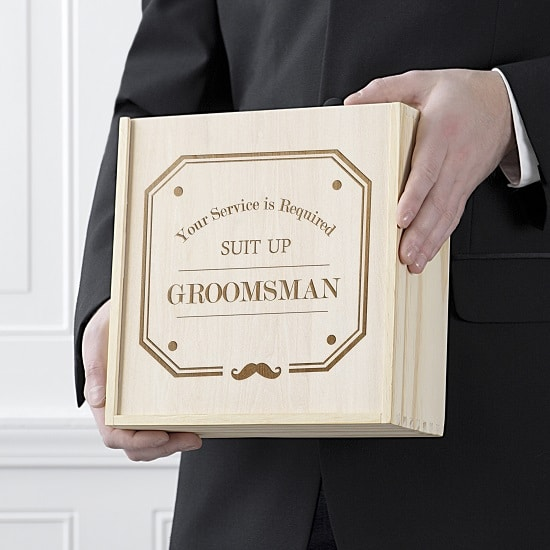Groomsman gift box shown for size GM-W3981