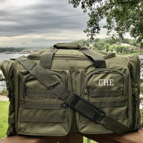 Military-green colored XL bag for men