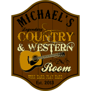 Personalized Country & Western Room Premium Wood Sign