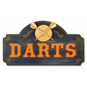 Premium Wood Darts Game Room Sign