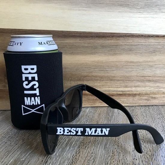 Best Man Sunglasses and Koozie Set