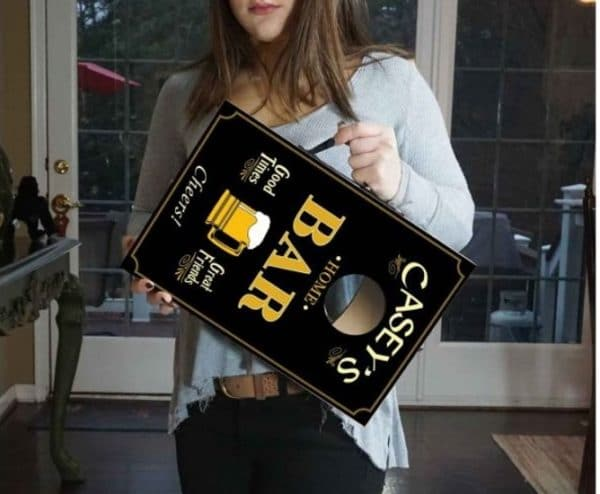 "The convenient 10 1/2"" x 15 3/4"" sizing makes carrying and storing these mini cornhole boards a breeze."