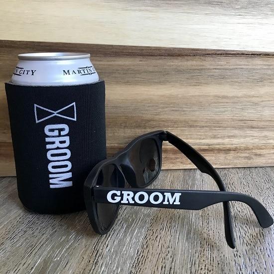 Groom Sunglasses and Koozie Set
