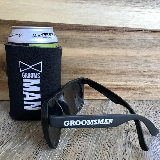 Groomsman Sunglasses and Koozie Set
