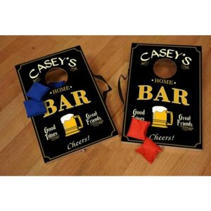 Personalized Home Bar Mini Corn Hole Game