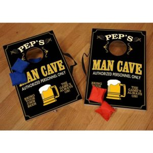 Personalized Man Cave Mini Cornhole Game Set - CORN14