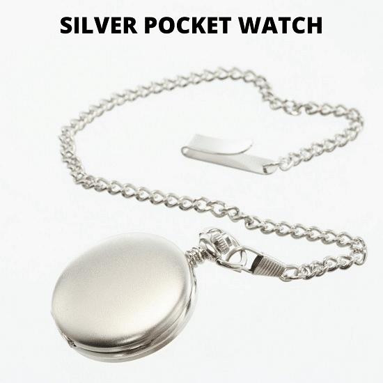 Men's silver pocket watch