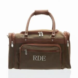 Personalized Men's Leather One-Nighter Travel Bag