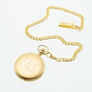 Personalized Vintage Gold Men's Pocket Watch